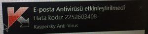 Kaspersky antivirüs etkinleştirilemedi Hatası Nasıl Çözülür